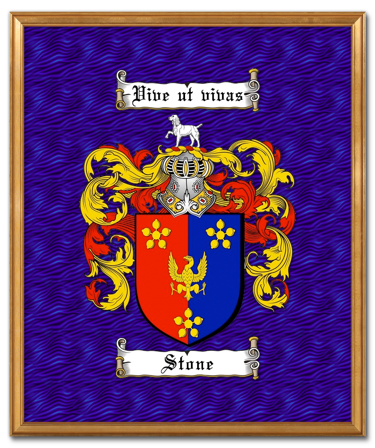 Stone-Family-Crest-Framed